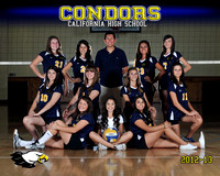 Cal Hi Girls JV Volleyball Team & Individual Photos